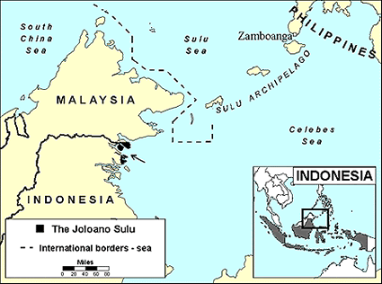 Tausug, Joloano Sulu in Indonesia map