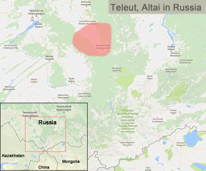Teleut in China map