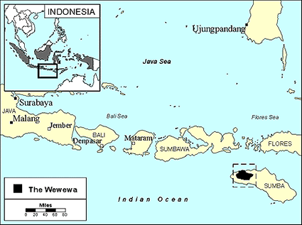 Wewewa in Indonesia map