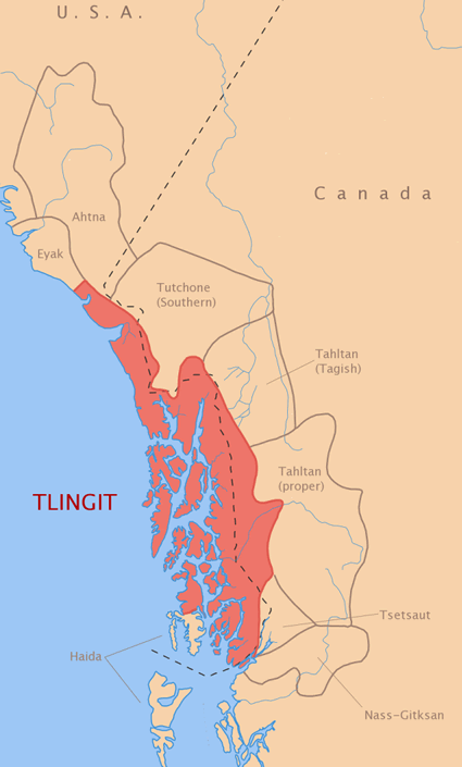 Tlingit in United States map