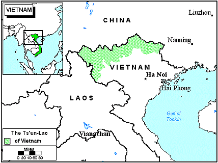 Tsun-Lao in Vietnam map