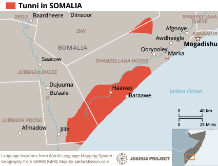 Tunni in Somalia map