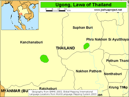 Ugong in Thailand map