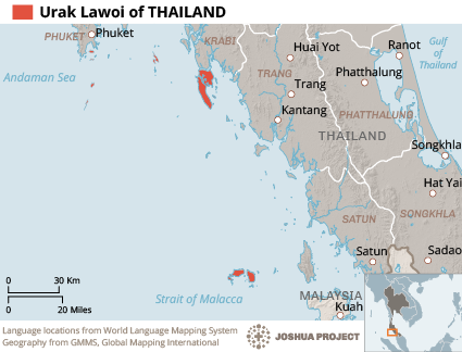 Urak Lawoi in Thailand map