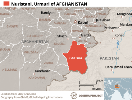 Ormuri in Afghanistan map