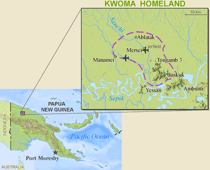 Washkuk, Kwoma in Papua New Guinea map