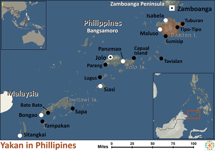 Yakan in Philippines map