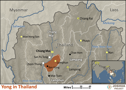 Yong in Thailand map