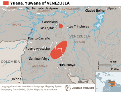 Yuana in Venezuela map