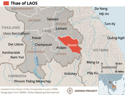 Thae in Laos map
