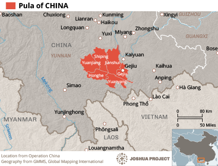 Phola in China map