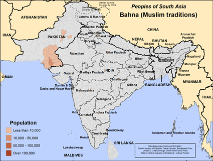 Bahna (Muslim traditions) in Pakistan map