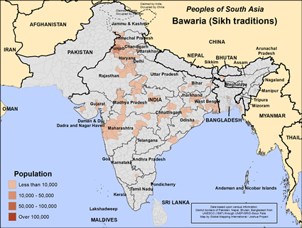 Bawaria (Sikh traditions) in India map