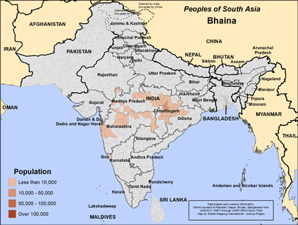 Bhaina in India map