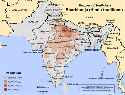 Bharbhunja (Hindu traditions) in Nepal map