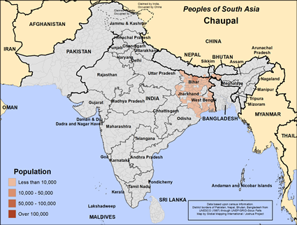 Chaupal in India map