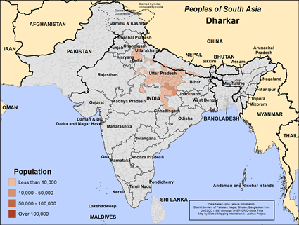 Dharkar in Nepal map