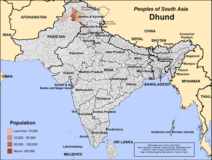 Dhund in Pakistan map