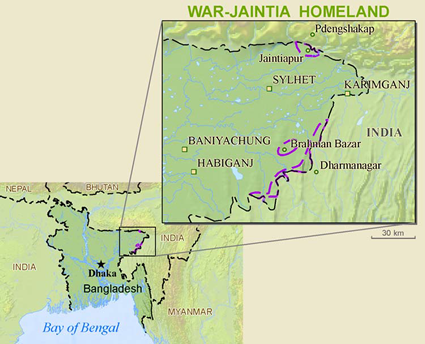 Jamatia in India map