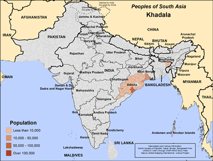 Khadala in India map