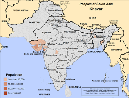 Khavar in India map