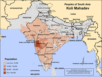 Koli Mahadev in India map