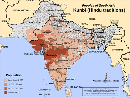 Kunbi (Hindu traditions) in Bangladesh map