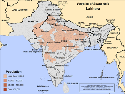 Lakhera in India map