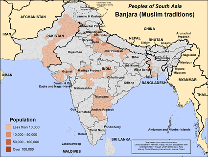 Banjara (Muslim traditions) in Bangladesh map