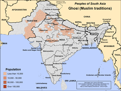 Ghosi (Muslim traditions) in Pakistan map