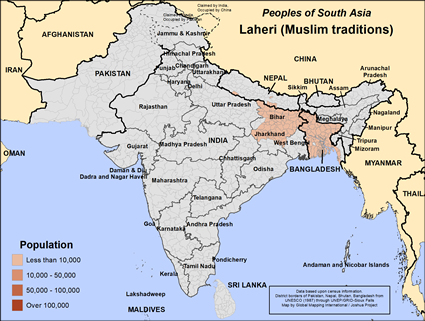 Laheri (Muslim traditions) in India map