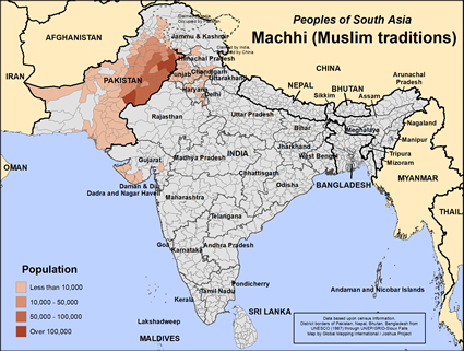Machhi (Muslim traditions) in Pakistan map