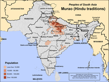 Murao (Hindu traditions) in Nepal map