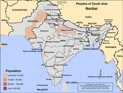 Nanbai in India map