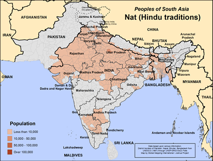 Nat (Hindu traditions) in Bangladesh map