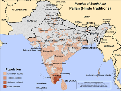 Pallan (Hindu traditions) in India map