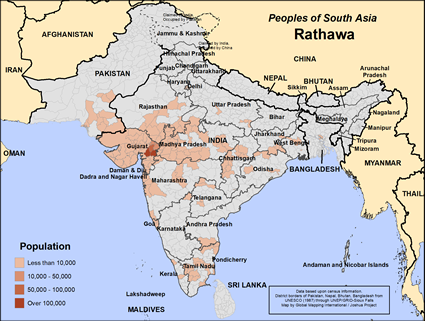 Rathawa in India map