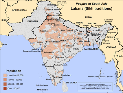 Labana (Sikh traditions) in India map