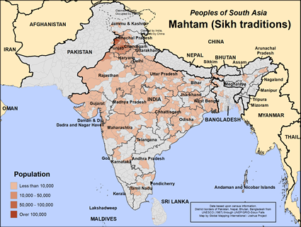 Mahtam (Sikh traditions) in India map