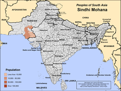 Sindhi Mohana in India map
