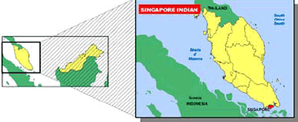 Tamil (Hindu traditions) in Singapore map