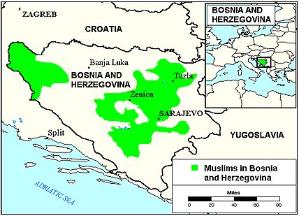 Turk in Bosnia-Herzegovina map