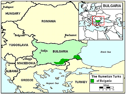 Turk in Bulgaria map