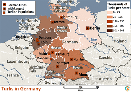 Turk in Germany map
