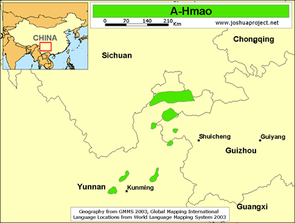 A-Hmao in China map