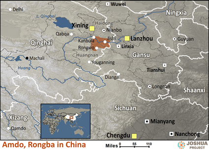 Amdo, Rongba in China map