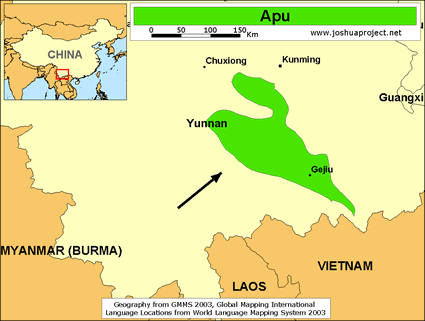 Apu in China map