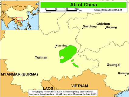 Ati in China map