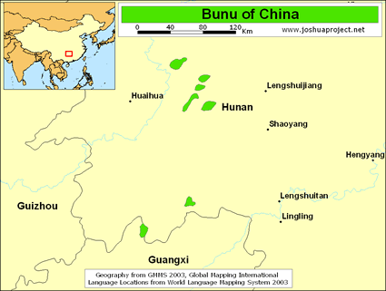 Bunu in China map