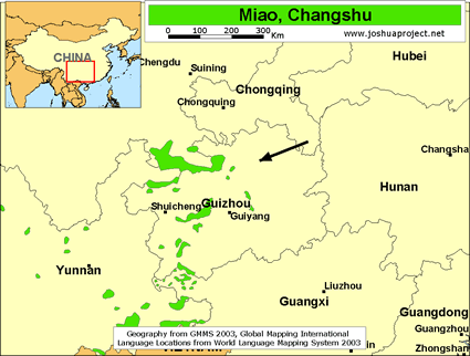Miao, Changshu in China map